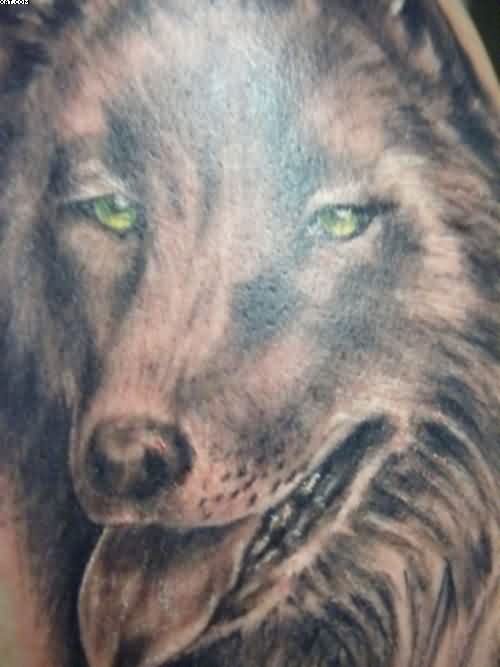 Wolf Close Up Tattoo