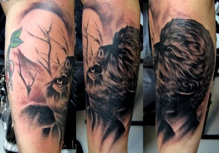 Wolfman Horror Tattoos