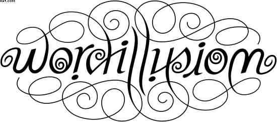 Word Illusion Tattoo Design