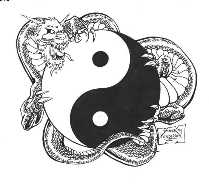 Ying Yang Tattoos Designs And Ideas Page 14