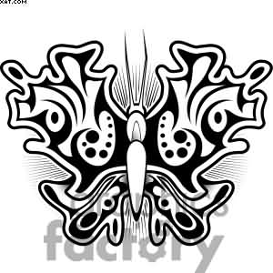 Ying Yang Butterfly Tattoo Graphic