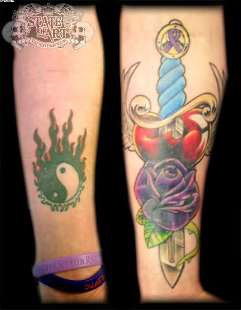 Ying Yang Cover Up Tattoos