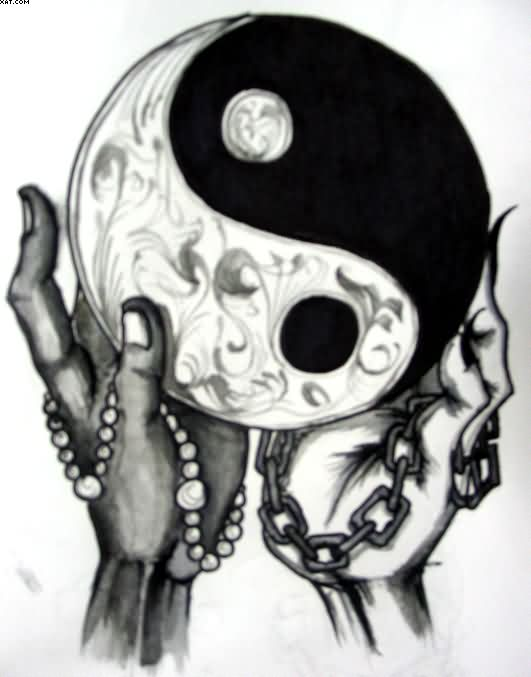 Ying Yang Tattoo Sketch