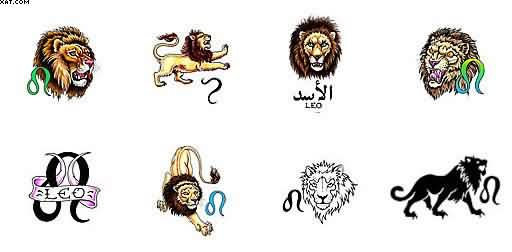 Zodiac Leo Sign Tattoo Designs