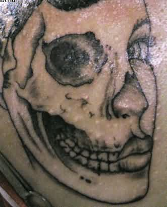 Zombie Girl Face Tattoo Picture