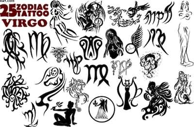 25 Zodiac Virgo Tattoo Designs