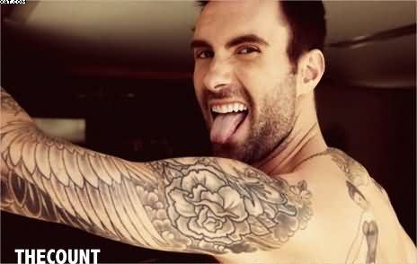 Adam Levine Western Tattoo