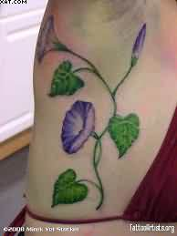 Amazing Vine Tattoo On Side For Girls