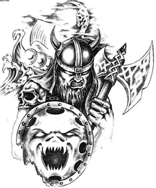 Angry Celtic Warrior Tattoo Designs