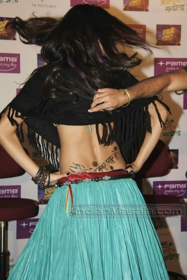 Anushka Sharma Waist Tattoo