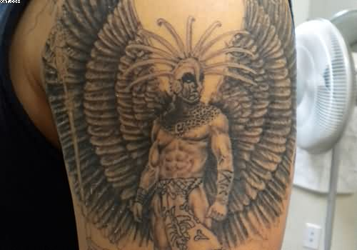 Aztec Warrior Tattoo For Arm