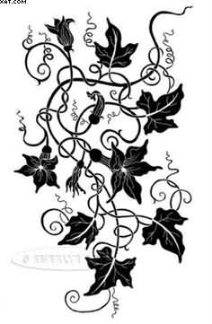 Black Ivy Vine Tattoo Design