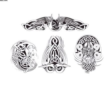 Celtic Irish Western Knot Color Wizard Viking Warrior Griffin Tattoos