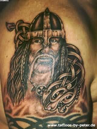 Celtic Viking Warrior Tattoo For Men