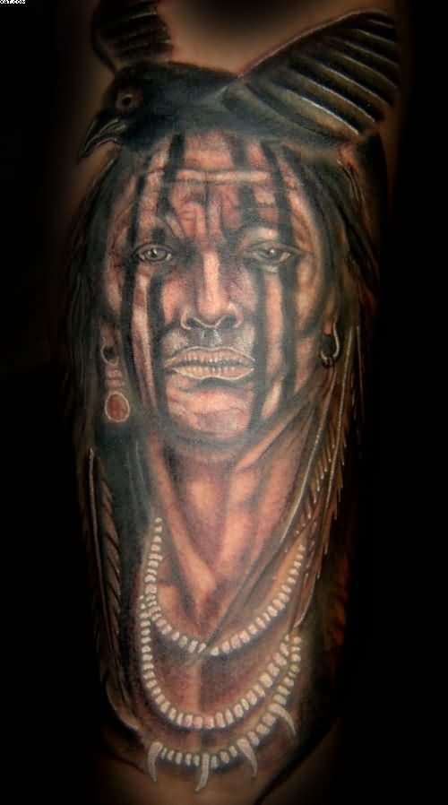 Cherokee Indian Warrior Tattoo