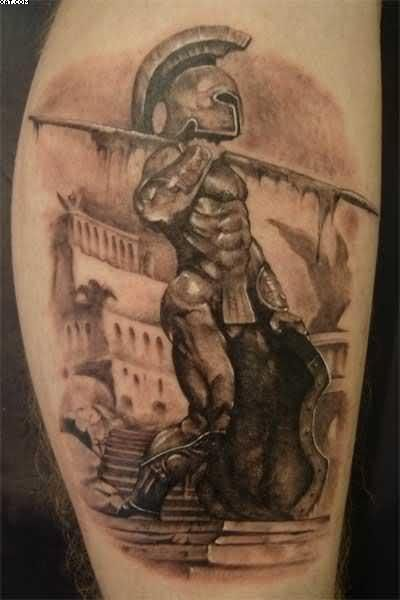 Fabulous Spartan Warrior Tattoo