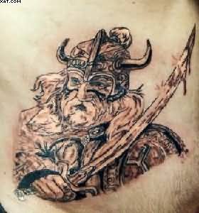 Fabulous Warrior King Tattoo On Waist