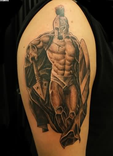 Fantastic Warrior Tattoo On Arm