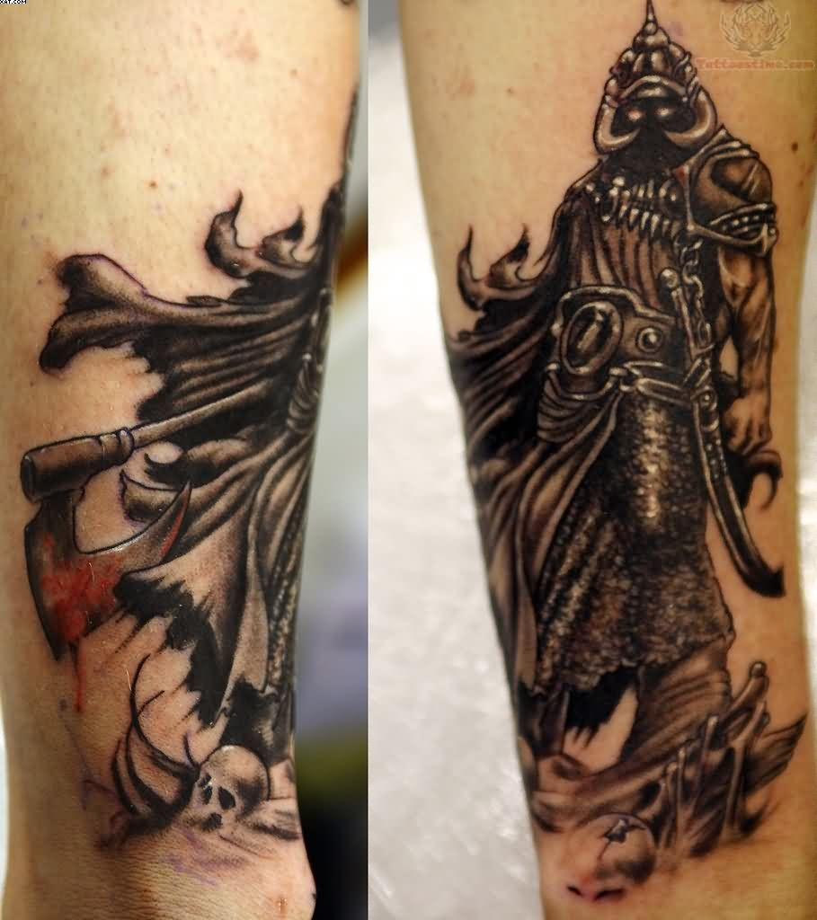 Fighting Warrior Tattoos