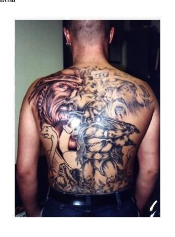 Full Back Warriors Tattoos