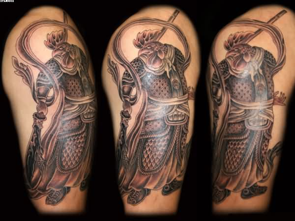 Half Sleeve Warrior Tattoos