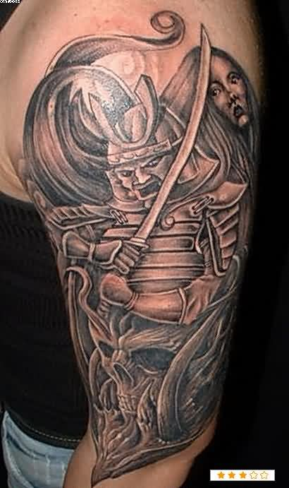 Half Sleeve Warrior Tattoos For Men