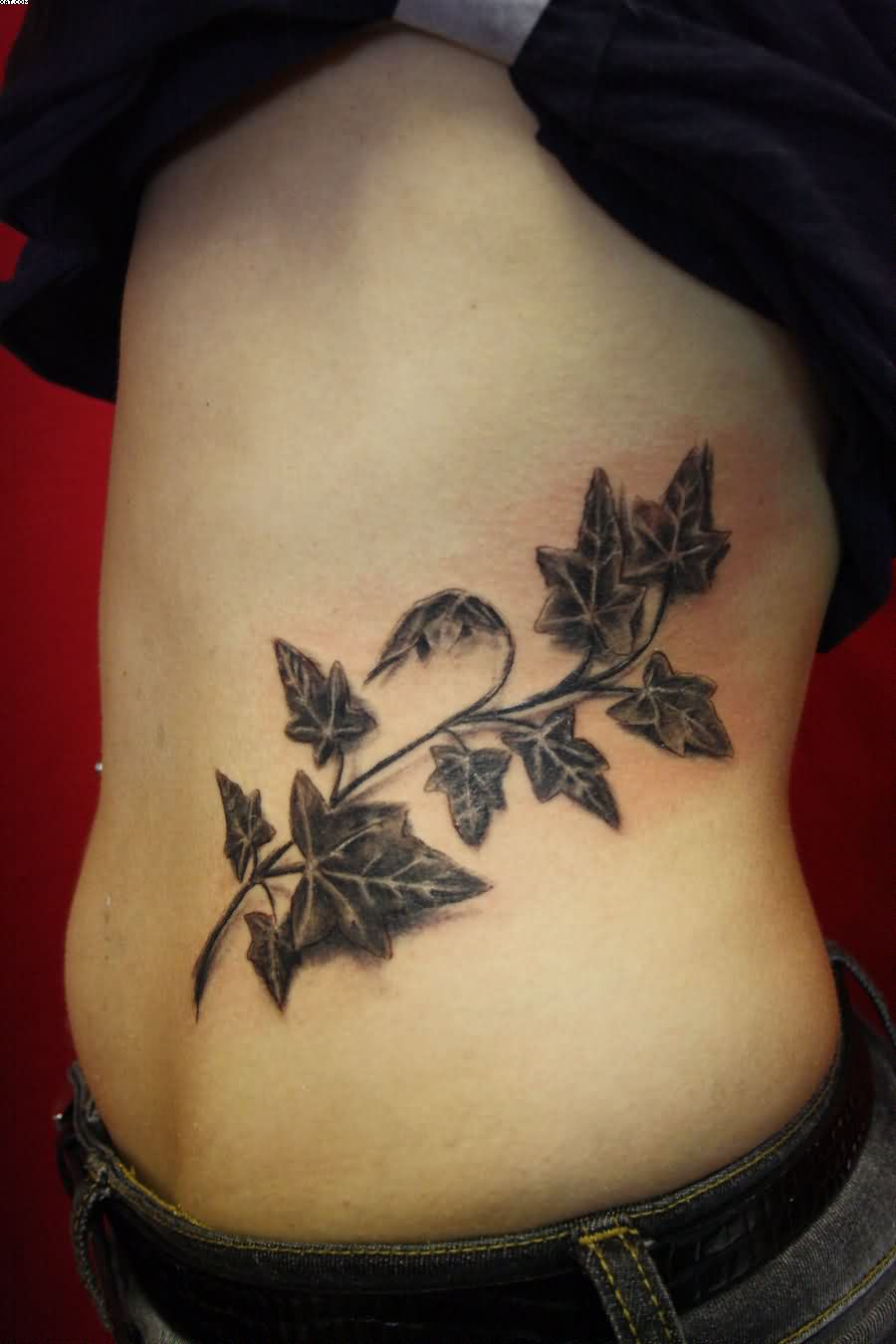 Ivy Leaves Tattoos On Waist