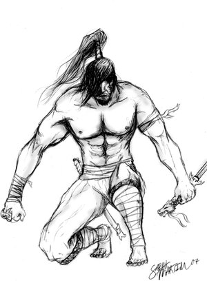 Japanese Samurai Warrior Tattoo Design
