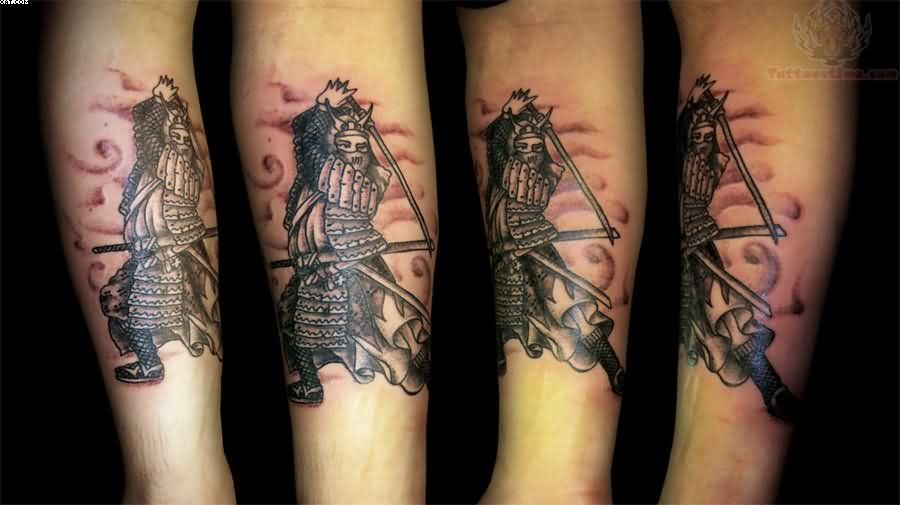 Japanese Warrior Tattoos For Arm