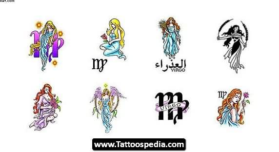 New Virgo Tattoo Designs