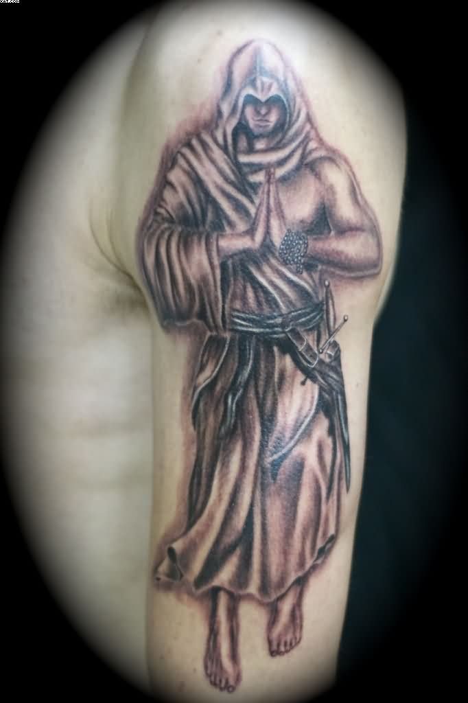 Praying Warrior Angel Tattoo For Arm