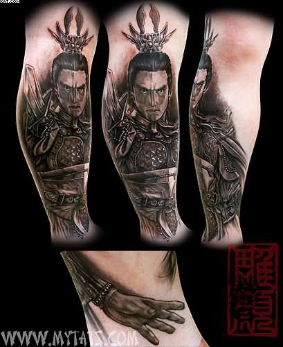 Realism Japanese Warrior Tattoos