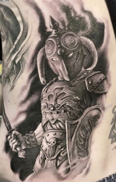 Realism Warrior Tattoo Art