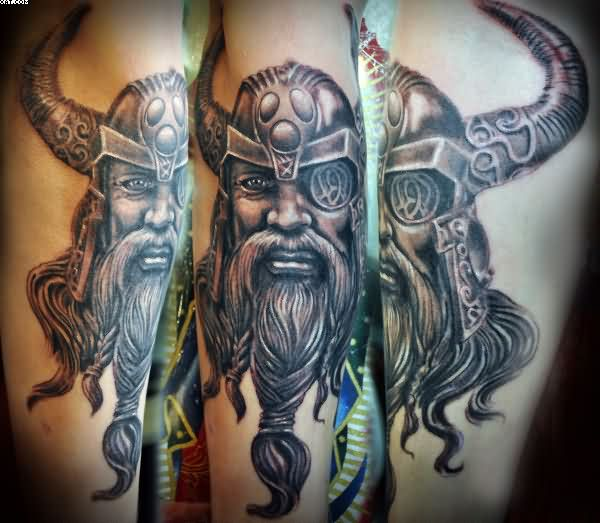 Realistic Viking Warrior Tattoos