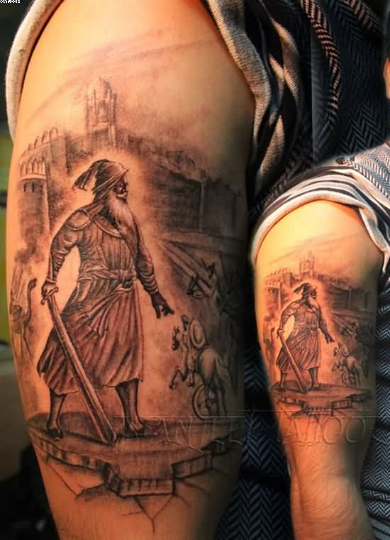 Religious Warrior Tattoos