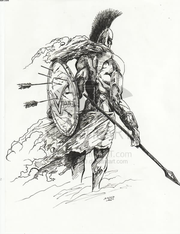 Spartan Warrior Tattoo Drawing