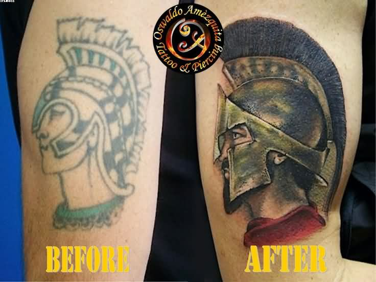 Spartan Warrior Tattoo Stages