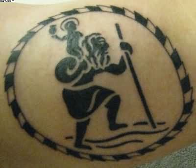 St Christopher Western Tattoo