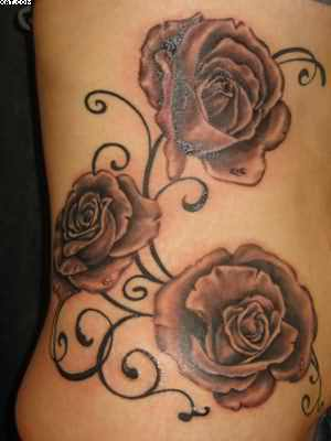 Tattoo Of Rose Vines