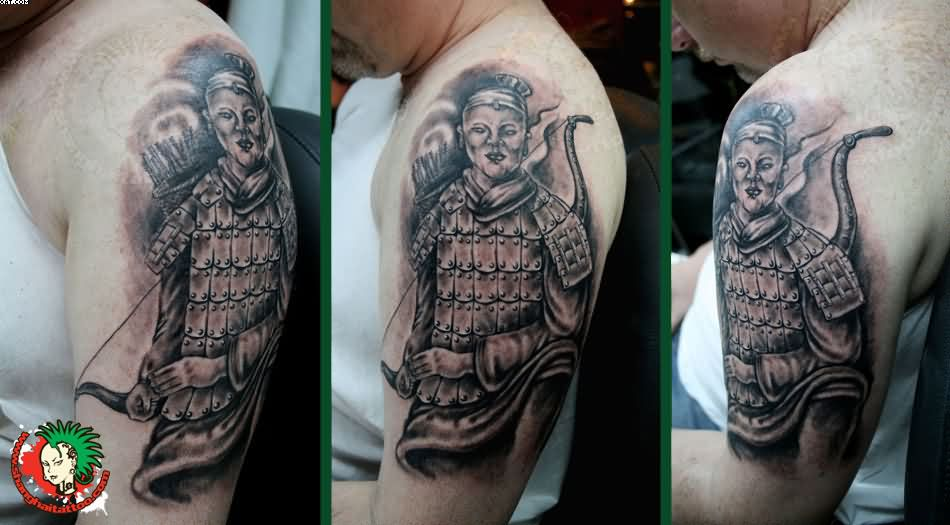 Terracotta Warrior Biceps Tattoos