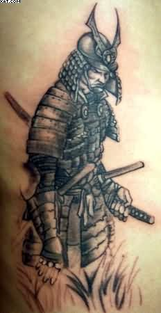 Terrific Japanese Warrior Tattoo