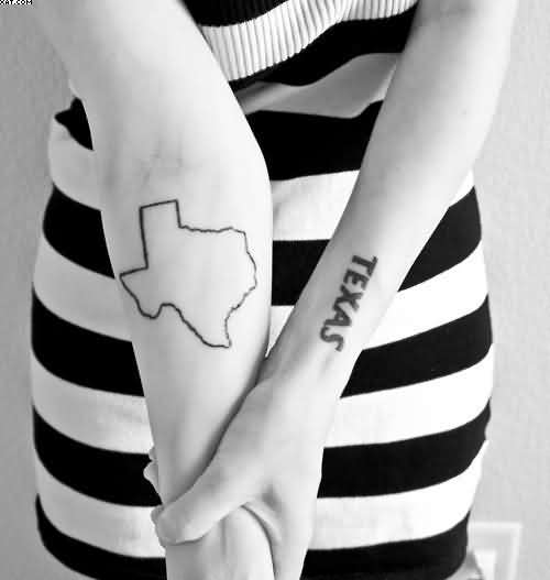 Texas State Western Tattoos