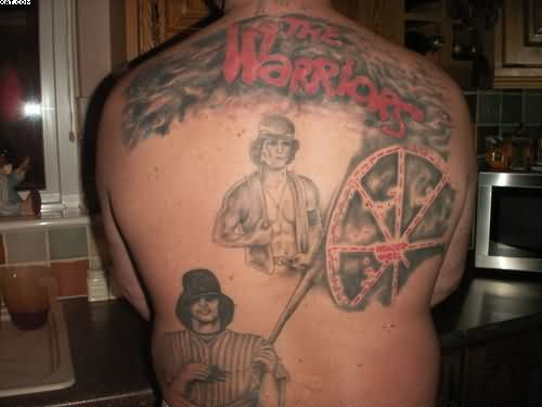 The Warriors Tattoos On Back Body