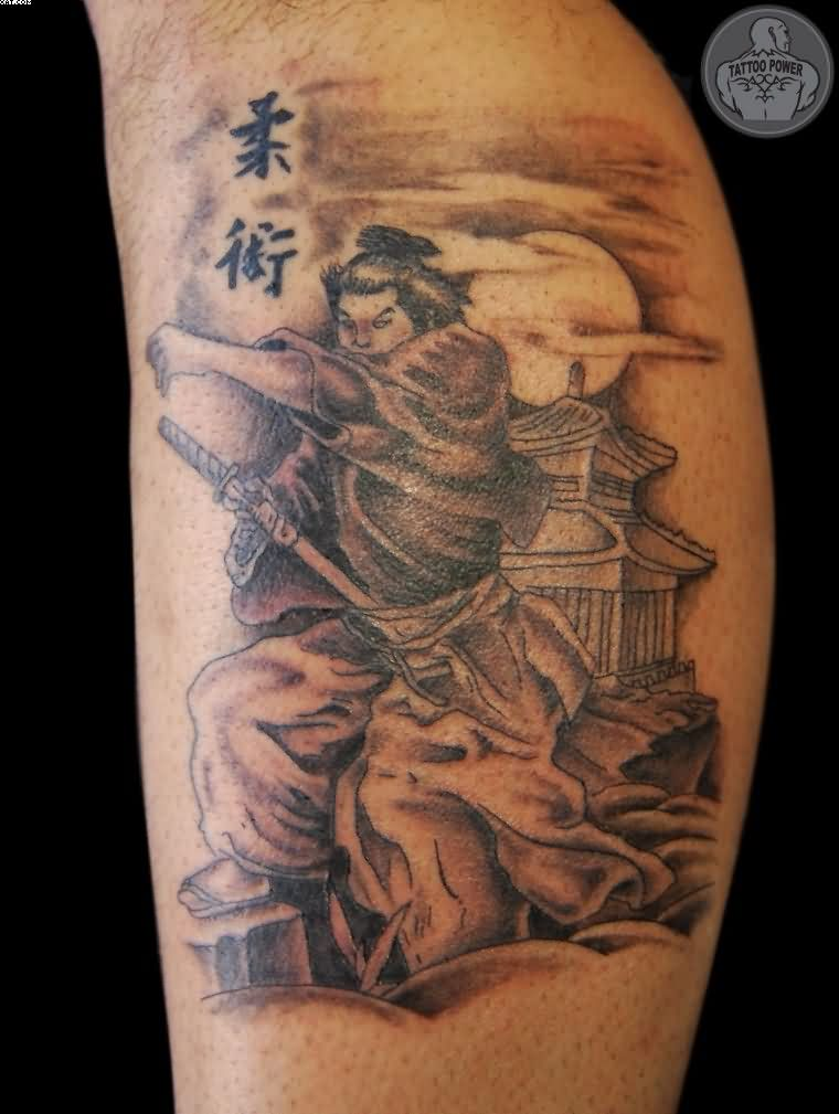 Traditional Japanese Warrior Tattoo