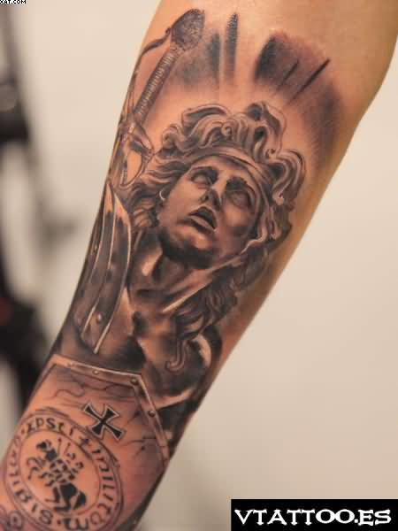Ultimate Angel Warrior Tattoo For Arm
