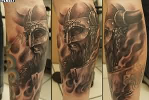 Viking Leg Sleeve Tattoos