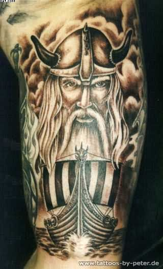 Viking Warrior Tattoo For Muscles