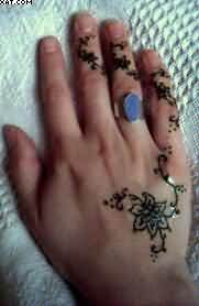 Vine Henna Tattoos For Hand