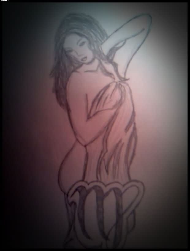 Virgo Tattoo Sketch