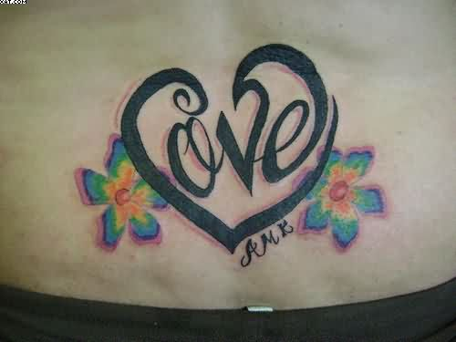 Waist Tattoo Of Love